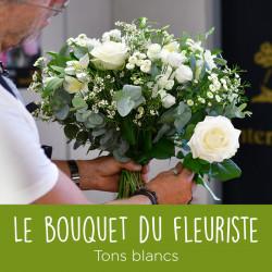 Bouquet blanc du fleuriste