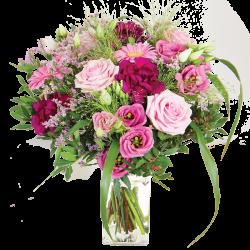Rosewood und seine Vase angeboten