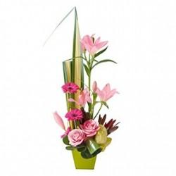 Assemblage de fleurs en hauteur