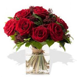 Blumenstrauß aus roten Rosen